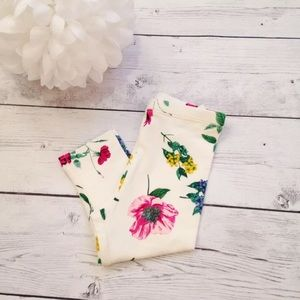 Toddler Cream Floral Print Leggings - Size 12-18 M